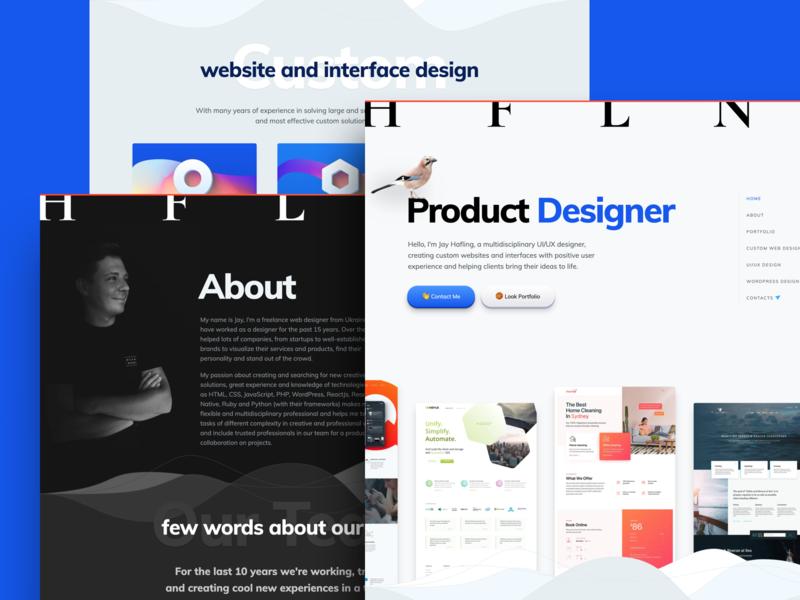 Jay Hafling minimal clean portfolio page landing layout design web design webdesign ux ui website web