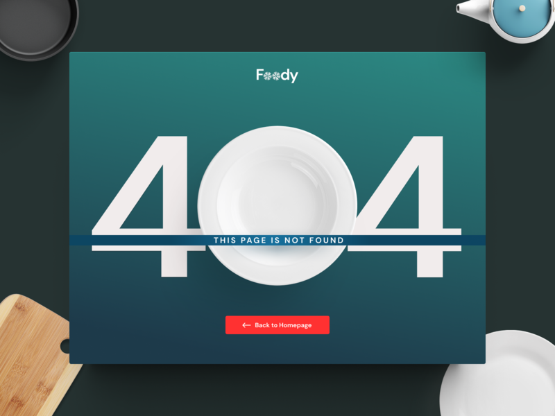Daily Food Delivery :: 404 application web design app web website blue dark design ux ui dailyui dailyui008