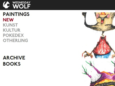 wednesdaywolf.com website css html5 javascript php webdesign design flat