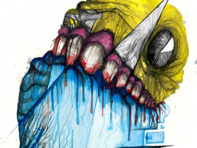 PacMan gaming watercolor teeth