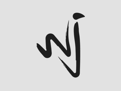 Wj Logo brush logo