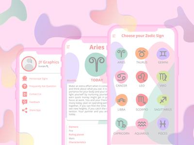 Horoscope App User Interface UI UX