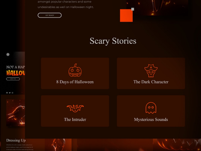 Halloween landing page websiteui website design scary icon graphic webui pumpkin halloween web design website uiux ux ui