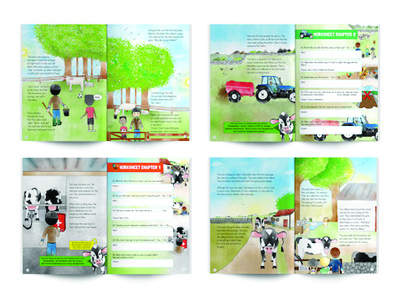 Farm Safety Book Inside Multiple education design illustration book safety farm