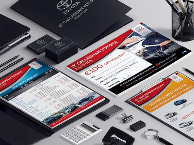 O'Callaghan Toyota - Stationery business card flyer poster voucher stationery