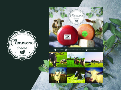 Clonmore Cheese Poster Design product farm cheese design logo poster