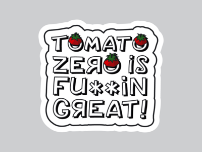 Sticker for TomatoZero (white'n'clean)