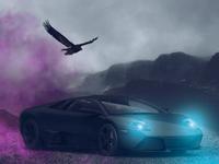 "Making of Lamborghini 3D ""Fan Art"" Project | Retouchlab.net"