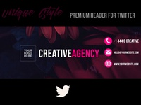 Creative Agency | Twitter Header (PSD)