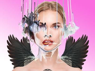 Pink Gothic Angel