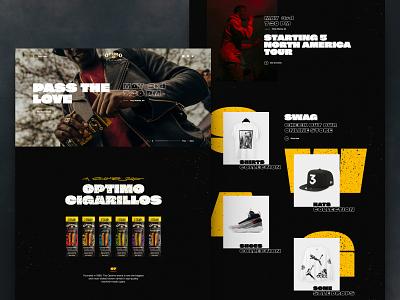 Optimo Cigarillos dark website landing layout web design typogaphy hiphop cigarettes swag black ux design web ui
