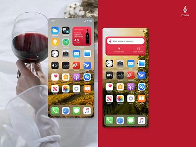 Vivino Widget Concept clean ux ui ios widget app vino wine vivino