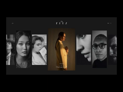 The Fitz: People Concept bar cocktails fashion people fitz typography promo clean black motion ux dark concept animation web ui