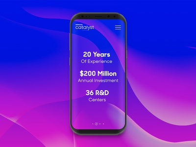Samsung Catalyst Fund: Promotional Concept #1 ux gradient ui web abstract galaxy s8 galaxy samsung concept promotional promo
