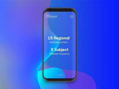 Samsung Catalyst Fund: Promotional Concept #2 ux gradient promo promotional concept samsung galaxy galaxy s8 abstract web ui