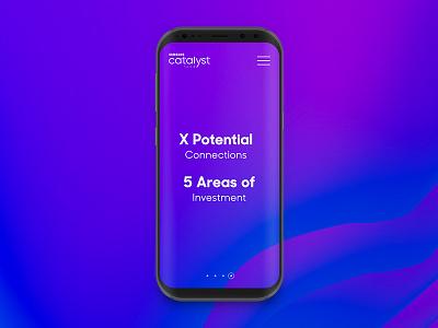 Samsung Catalyst Fund: Promotional Concept #3 ui web abstract galaxy s8 galaxy samsung concept promotional promo gradient ux