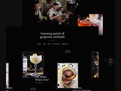 The Fitz: Part 2 dark black drink restaurant bar cocktails ui animation motion web