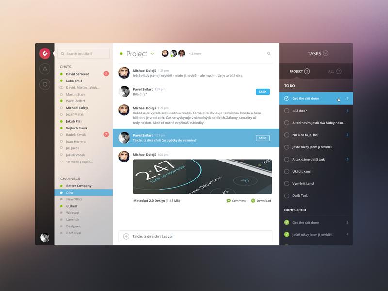 Messaging screen app messaging message ulikeit yosemite blur zeifart mac os x clean ui flat