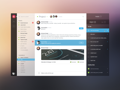 Messaging screen app messaging message ulikeit yosemite blur zeifart mac os x clean ui flat