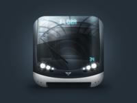 Metrobot 2.0 metro pavel prague icon subway underground metrobot ios train reflection zeifart transit
