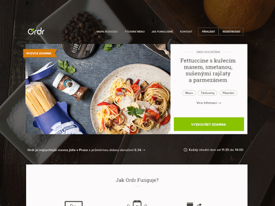New Ordr Website ordr order food delivery fast prague europe web landing header