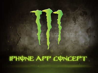 Monster Energy App monster energy app mobile iphone green ios concept