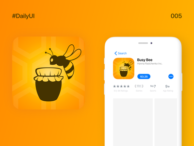 DailyUI_005_App Icon orange amber appicon app icon design app icon logo app icon honey bee honeybee honey bee dailyui 005 daily ui challange daily 100 challenge dailyuichallenge daily ui 005 daily ui dailyui