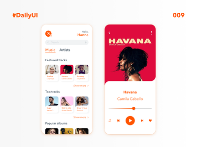 DailyUI 009 Music Player daily 009 dailyuidesignchallenge daily ui design challenge music player app music player ui music player music art music dailyuichallenge dailyui daily 100 challenge daily daily ui interface design ux ui