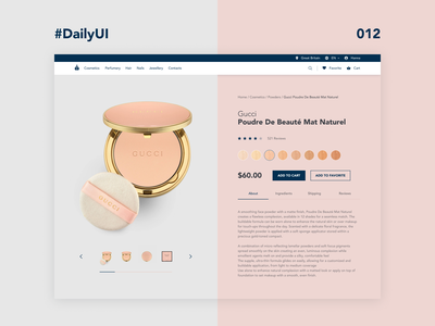 DailyUI_012_E-Commerce Shop womens girls gucci cosmetic makeup luxury e-commerce website e-commerce theme e-commerce e-commerce shop daily challange dailychallenge daily 100 daily012 daily 012 daily dailyuichallenge dailyui daily 100 challenge daily ui