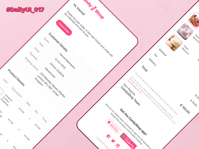 DailyUI_017_Email Receipt sweets sweet email template email receipt email marketing email design email ecommerce daily ui design challenge dailyuichallenge dailyui 017 daily ui 017 daily ui dailyui daily 100 daily 017 daily candy cakes cake