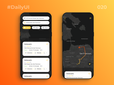 DailyUI_020_Location Tracker challenge dailyuichallenge map design daily 020 dailyui 020 daily ui 020 daily 100 challenge map ui maps map tracker app trackers location based location pin location app locations location location tracker