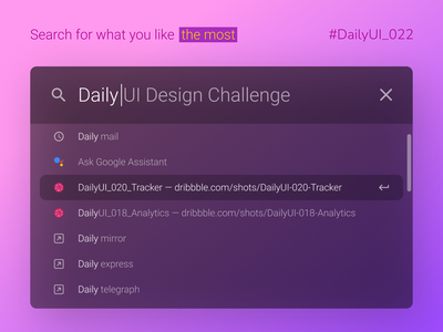 DailyUI_022_Search challenge daily interface ui daily 100 challenge daily 022 dailyui 022 daily ui 022 dailyui search box search engine search results search bar searching