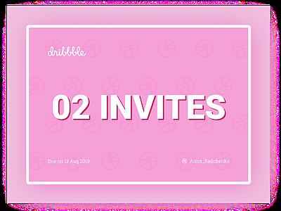 INVITES portfolio site shot illustration cute typography pink designer uxuidesign ui ux join dribbble portfolio player draft invites giveaway invites invite dribbble dribbble invite design