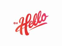 Oh Hello Logo Concept