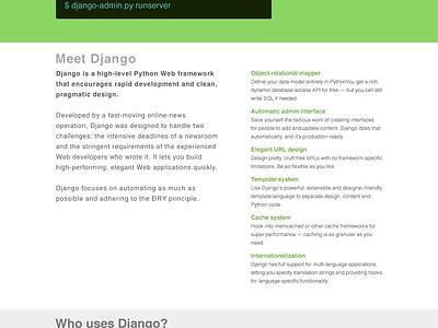 Django Homepage django homepage