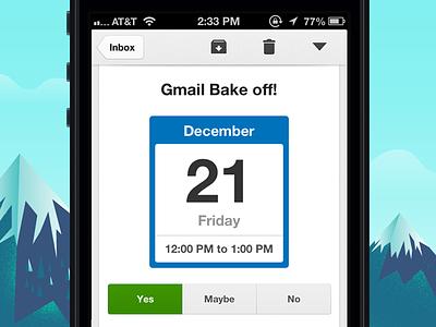 Gmail iOS 2.0 Calendar gmail redesign