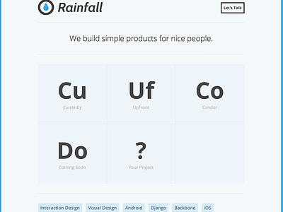 Rainfall  rainfall redesign minimal blue