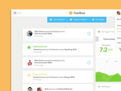Feedbox - Web App Dashboard
