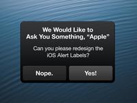 Redesigning iOS Alert Labels