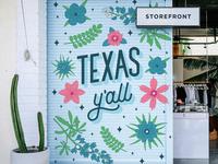 Texas Y'all Mural
