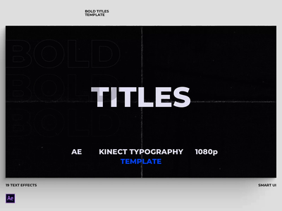 Bold Titles | After Effects Template ui kinectic typography typography design animation motion essential graphics branding titles after effects template motion graphics
