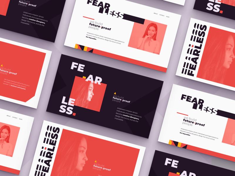 Fearless | Landing page redesign web ui concept clean typography landing website image hero design branding