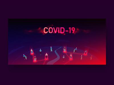 corona neon vector digital art adobe illustrator illustration covid-19 outbreak analysis coronavirus corona
