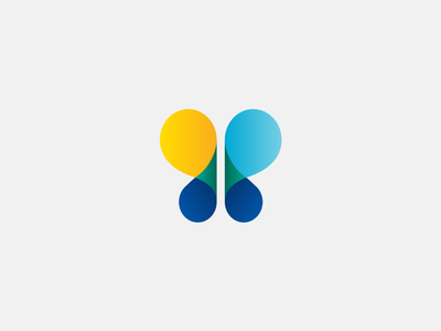 Just a simple butterfly logo mark colour simple butterfly experiment icon illustration chadomoto dimiter petrov димитър петров