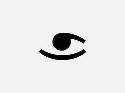 The comma is always watching logo mark sign icon illustration simple minimal bw eye comma chadomoto dimiter petrov димитър петров