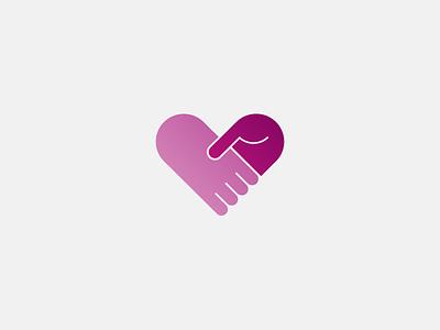 Hello, I love you. icon illustration graphic love heart hands smart simple chadomoto dimiter petrov димитър петров