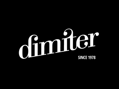Personal typography experiment – dimiter typography ligature lettering logo logotype wordmark chadomoto dimiter petrov