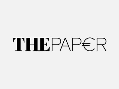The Paper Logo Design logo mark typography euro finance politics greece paper cash currency