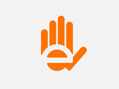 Edesign logo – experimental redesign edesign logo redesign hand e brand mark symbol simple wrist