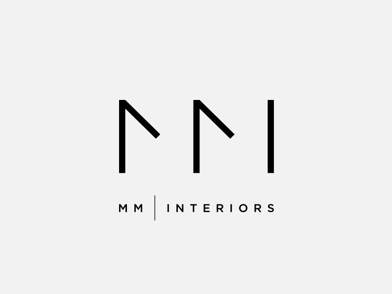 MM Interiors Logo Design By Dimiter Petrov Dribbble